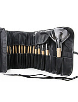 24pcs High Quality Nylon Brush Makeup Brush Set Cosmetic Makeup Tools in PU Bag