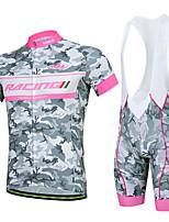 Esportivo Ciclismo Blusas / Fundos Homens Moto Respirável / Redutor de Suor Manga Curta Elasticidade Alta Elastano BrancoS / M / L / XL /