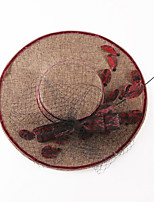 Women Linen Bucket Hat,Vintage / Party All Seasons