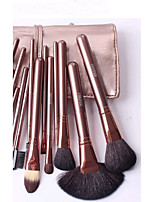 18Pcs Professional Make-Up Brush Suit Animal Wool Fleece + Small Horse Hair
