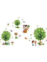 3D Wall Stickers Wall Decals Style Green Home Fresh Tree PVC Wall Stickers