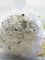 1 18 Ramo Seda Rosas Cesto Flor Flores artificiais 20*20*28