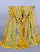 Women's Chiffon Cashew Print Scarf Yellow/Fuchsia/Beige/Blue