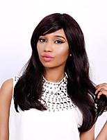 Long Natural Wave Side Bang Fashion Human Hair Wig For Women