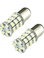 4pcs 1157 60SMD 3528  Dual Color Yellow+White Car Turn/Brake LED Light Bulb(DC12V)