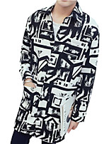 DMI™ Men's Lapel Print Casual Trench Coat