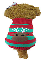 Holdhoney Dog Sweater Multicolored Winter Milu Deer Christmas, Dog Clothes (#LT15050273)