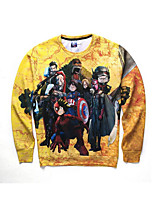 3D Hoodie Printing  One Piece  Clothing Long Sleeve  Cosplay Costumes Geeky Clothing Round Halloween