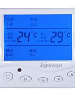 центральное кондиционирование фанкойлами регулятор температуры трехскоростной переключатель панели