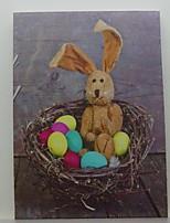 LED Canvas Print,Bunny