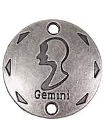20pcs New Alloy Parts Twelve Constellation Gemini Round Accessories
