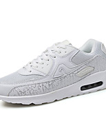 Unisex Sneakers Spring / Fall Comfort PU Casual Flat Heel White Walking