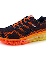 Femme-Décontracté-Bleu / Orange-Talon Plat-Confort-Sneakers-Tulle