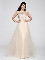 TS Couture® Formal Evening Dress A-line Scoop Floor-length Tulle with Beading / Sequins