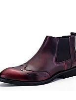 Черный / Красный-Мужской-На каждый день-КожаOthers-Ботинки