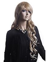 longos cabelos crespos luz tecer europeu cabelo loiro peruca sintética