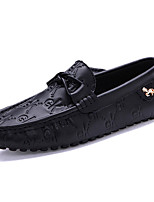 Men's Loafers & Slip-Ons Spring / Fall Comfort Leather Casual Black / Blue / Brown / White / Taupe Walking