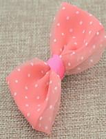 Korean Flower Girl's Bow Dot Fabric Hair Clip