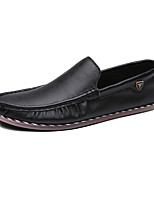 Women's Shoes Leather Spring / Fall Comfort Flats Casual Flat Heel Others /Ruched Black / White / Orange Walking