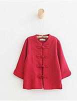 Girl's Casual/Daily Solid Blouse / Hoodie & Sweatshirt,Cotton Spring / Fall Red