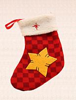 fuentes de la fiesta al aire libre 1pc decoración de Navidad árbol de la estrella rejilla calcetín colgante de año nuevo