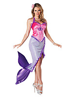 Costumes Mermaid Tail Halloween / Noël / Carnaval Pourpre claire / Incarnadin Vintage Térylène Robe