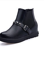 Women's Shoes PU / Leatherette Fall / Winter Wedges Boots Outdoor / Dress / Casual Wedge Heel Others Black / Red / White