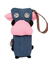 холст корова перо сумка новая южнокорейская симпатичный простой большой емкости пенал