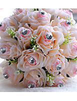 Wedding Flowers Round Roses Bouquets Wedding Polyester 8.66
