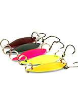 5pcs 3cm/3g Spoon Metal Fishing Lures Spinner Baits Random Colors