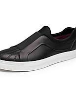 Черный / Коричневый-Мужской-На каждый день-Дерматин-На плоской подошве-Удобная обувь-Кеды