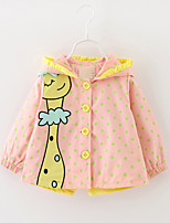Girl's Polka Dot Trench Coat,Cotton Spring / Fall Blue / Green / Pink