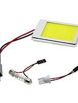 2pcs COB Festoon T10 BA9S Car LED Panel Light 24 Chips/Smd Car Reading Interior Light White Aluminum Shell(DC12V)