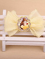 Korean Flower Girl's Disney Bow Fabric Hair Clip