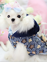 Hunde Mäntel Blau / Gelb Hundekleidung Winter / Frühling/Herbst Geometrisch warm halten Other