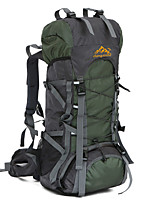 56-75 L Hiking & Backpacking Pack Camping & Hiking /Wearable Dark Green / Dark Blue Oxford ChengXinTu