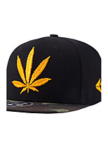 New Fashion Men Women Gold Weed Leaf Embroidery Street Dance Cool Black Baseball Caps