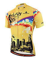 Miloto® Cycling Jersey Men's Short Sleeve BikeBreathable / Quick Dry / Moisture Permeability / Front Zipper / Reflective Strips /
