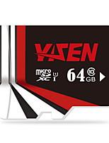 YISEN  64GB UHS-I U1 / Class 10 MicroSD/MicroSDHC/MicroSDXC/TFMax Read Speed80 (MB/S)