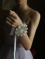 Lace Wedding Flowers Hand-tied Roses Wrist Corsages Wedding