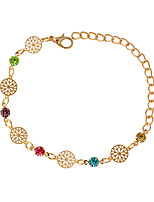 Chain Bracelets 1pc,Fashionable Round Golden / Silver Alloy Jewelry Gifts