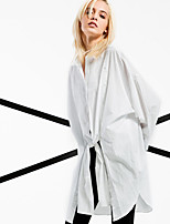 ARNE® Women's Shirt Collar Long Sleeve Shirt & Blouse White-6203