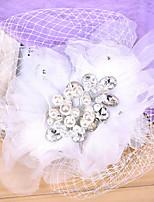 Women's Rhinestone / Tulle / Fabric / Net Headpiece-Wedding / Special Occasion Fascinators 1 Piece Clear Round 24cm