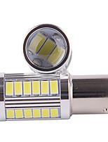 2pcs 5w 1156 5630 voiture de couleur blanche 33smd conduit tourner les lampes de frein de feux de signalisation de la queue (DC12V)