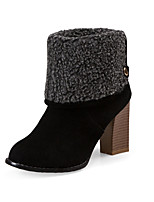Women's Boots Spring / Fall / Winter Fashion Boots Leatherette / Casual Chunky Heel Others Black / Gray / Almond Others