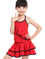 Accesorios(Fucsia / Rojo,Fibra de Leche,Danza Latina) -Danza Latina- paraNiños Frunce Entrenamiento
