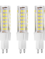 7W G9 LED Bi-pin Light 75 SMD 2835 650 lm Warm White / Cool White Decorative AC 220-240 V 3 pcs