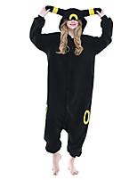 Kigurumi Pajamas Anime Leotard/Onesie Halloween Animal Sleepwear Black Animal Print / Patchwork Polar Fleece Kigurumi UnisexHalloween /