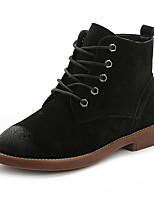 Women's Boots Fall / Winter Comfort Pigskin Casual Flat Heel  Black / Yellow Walking