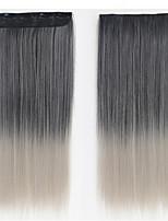 clipe sintético em extensões do cabelo 5clips europeus peruca reta 24